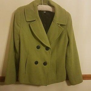 Merona Wool Green Peacoat Jacket/Coat